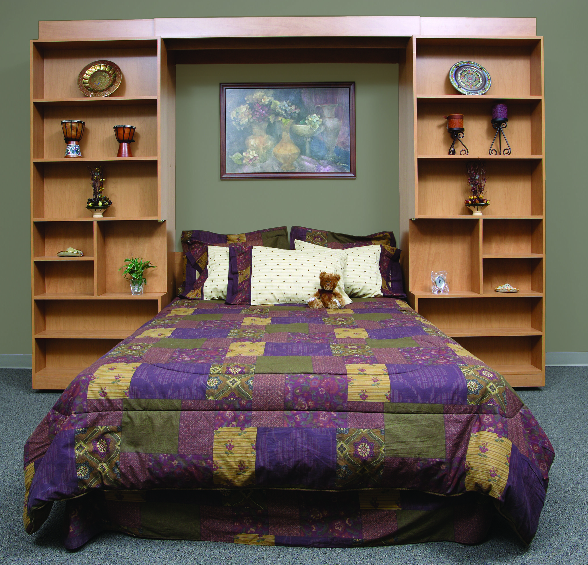 Murphy bed and shelves